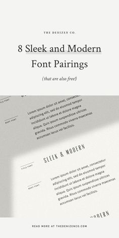 Sleek, modern and minimalist font combinations and font pairings for modern graphic design. Vintage Fonts, Vintage Typography, Graphics Vintage, Vector Graphics, Cursive Fonts, Script, Business Fonts, Business Branding, Minimalist Font