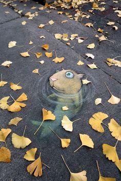Street Art Utopia | By David Zinn - In Ann Arbor, Michigan, USA