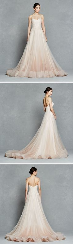 Beautiful Pink Ombre Wedding Dress || Florence by Kelly Faetanini