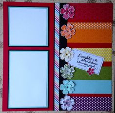 Rainbow Scrapbook Layout
