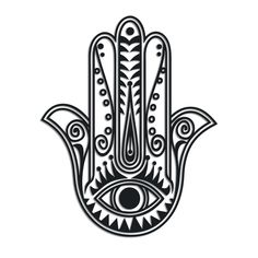 hamsa hand with evil eye