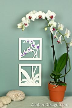 Ashbee Design: Orchid Shadow Box