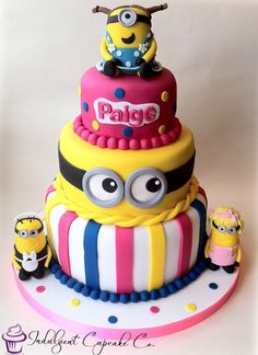 3 tier Minion cake................