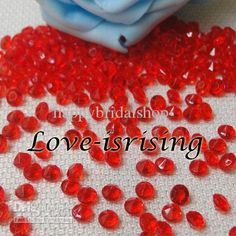 Wholesale Wedding Decoration - Buy New Arrivals---30% Off-4.5mm RED Diamond Confetti Acrylic Bead For Wedding Party Decoration, $2.88 | DHgate