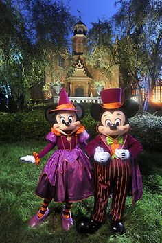 Halloween Get Up For Minnie and Mickey!