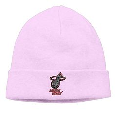 083b32b0a41 Miami Heat Cool Black Up And Over Logo Hipster Beanie Woolen Watch Ski Hat