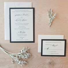 Elegant Wedding invitation - Script on pearlescent paper with rhinestone-. $5.50, via Etsy.