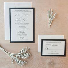 Elegant Wedding invitation - Script on pearlescent paper with rhinestone-. $5.50, via Etsy.