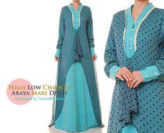 Abaya Maxi robe bleue  Robe en mousseline de par Tailored2Modesty