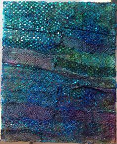 "Lynda Bleyberg. Mixed media on box canvas. 12"" by 9"". For sale- £250. info@lyndableybergart.co.uk"
