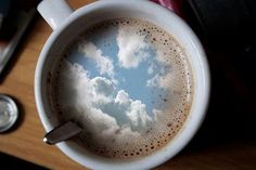 """I had some dreams there were clouds in my coffee, clouds in my coffee..."" Carly Simon lyrics from 'Your So Vain"""