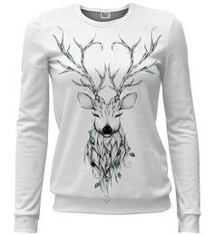 Bluza ze wzorem Deer sketch | Mr. Gugu & Miss Go