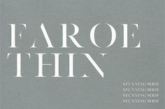 Faroe Thin | A Stunning Serif by Jen Wagner Co on @creativemarket