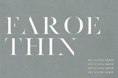 Faroe Thin | A Stunning Serif by Jen Wagner Co on @creativemarket