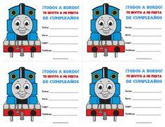 Thomas Train Ticket Printable Birthday Ticket Invitation Card DIY