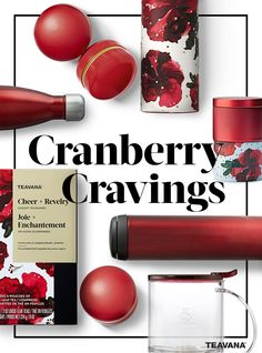 Have a craving for cranberry hues? Enjoy new teawares and teas from Teavana's cranberry collection.