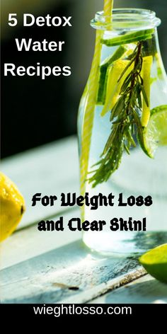 5 Detox Water Recipes For Weight Loss and Clear Skin! 5 Detox Water Recipes For Weight Loss and Clear Skin! Water Recipes, Detox Recipes, Detox Foods, Digestive Detox, Weight Loss Eating Plan, Body Detoxification, Lemon Diet, Fiber Rich Foods, Fat Foods