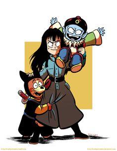 Emperor Pilaf, Mai and Shu at Dragon Ball Dragon Ball Z, Dbz Characters, Best Villains, Emperor, Anime Manga, Animation, Drawings, Illustration, Artist