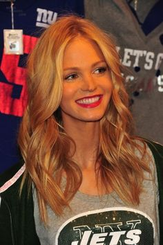 erin heatherton #VSMyFallEdit The hair and football season!