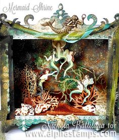 TWO projects by Nichola Battilana + NEW Tim Holtz Distress Color Altered Tins, Altered Art, Paper Art, Paper Crafts, Pop Up, Girls Dollhouse, Toy Theatre, Shadow Box Art, Sea Crafts