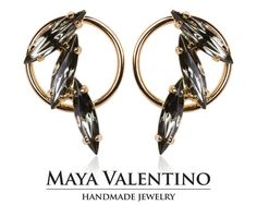 Black Diamond earrings daily jewelry crystal by MayaValentino