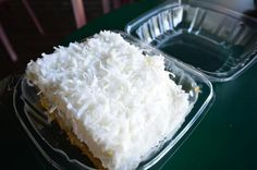 Haupia cake made with freshly shredded coconut Shredded Coconut, Piece Of Cakes, Coconut Flakes, Holidays And Events, How To Make Cake, Cake Recipes, Sweet Treats, Deserts, Spices