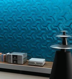 Forget about paint for your accent wall and do something more exciting like welcoming these geometric pattern tiles by Kutahya into your home.