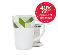Green Geometric Perfect Mug | David's Tea