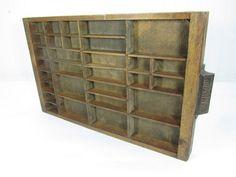 Wood drawer antique Printers drawerletter box by KarensChicNShabby