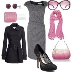 Very classy business outfit!