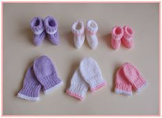 marianna's lazy daisy days: Premature & Newborn Baby Hat, Mittens & Bootees - perfect for charity knitting