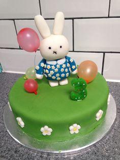 Miffy cake Miffy Cake, Birthday Cake, Cakes, Desserts, Food, Tailgate Desserts, Deserts, Cake Makers, Birthday Cakes