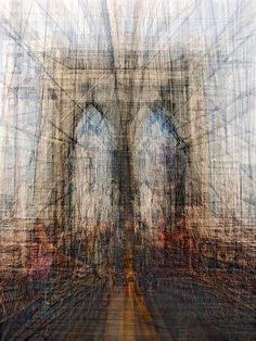 Spanish photographer Pep Ventosa fuses multiple snapshots of iconic landmarks – such as the Sydney Opera House and the Golden Gate – to form densely layered pictures that are rich in details and yet look wonderfully sketchy.