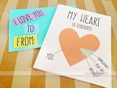 My heart {a diagram} DIY Valentine's Day card idea from thedatingdivas.com