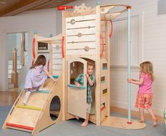 CedarWorks Rhapsody indoor playsets and playhouses bring active play inside all winter long