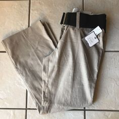 Maurices NWT I Am Smart Trouser Stone Taupe Belted Khaki Dress Pants 9/10 Short #Maurices #DressPants
