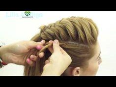 Kрасивая прическа с плетением стиле хвост!!! 2016 - YouTube