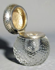 Lucien Gaillard - Crystal and Silver Inkwell