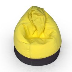 Glammclassic two-toned bean bag in charcoal and yellow