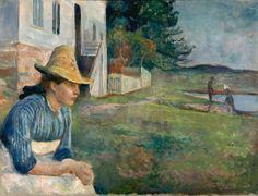 """'Atardecer' (1888), de Edvard Munch.MUCEO THYSSEN-BORNEMISZA. Fotos: Edvard Munch exposición """"Arquetipos"""": Munch, medio siglo de trabajos   Babelia   EL PAÍS"""