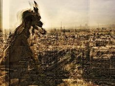 Layered Photograph of a Notre Dame De Paris Gargoyle, Pepe Ventosa
