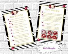 LipSense Tips and Tricks Card LipSense Application