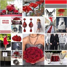 gray and red wedding. yep I think this is what it will be if I get married in June.
