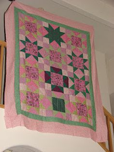 star quilt top made with Accuquilt Go! fabric cutter finished in under 4 hours