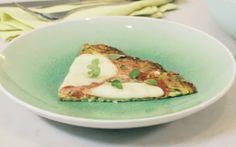 Pizza met courgettebodem