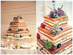 square naked cake! @Debra Eskinazi Stockdale Collins