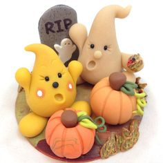 Halloween Figurine Parker's Big Scare - Polymer Clay Sculpture by KatersAcres