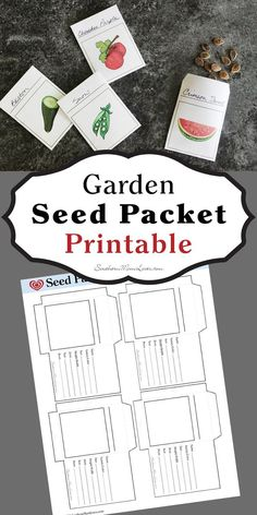 Southern Mom Loves: Garden Seed Packet {Free Printable}