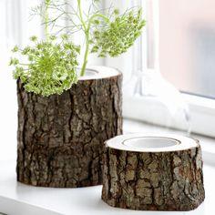 DIY Trunk Tree Vase, 15 Creative DIY Log Ideas - Always in Trend   Always in Trend