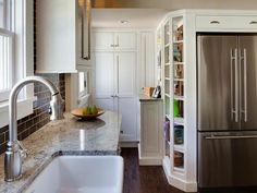 8 Small Kitchen Design Ideas to Try #kitchen #tv http://kitchen.nef2.com/8-small-kitchen-design-ideas-to-try-kitchen-tv/  #small kitchen designs # Small Kitchens: 8 Design Ideas to Try Focus on Function A small kitchen cannot accommodate homework, mail storage, laundry duties and recipe hunting. Unless you don't cook at all, the small kitchen's main chore is meal prep. So focus first on function, making sure you have the appliances and work areas you need. You may be able to save a bit of…